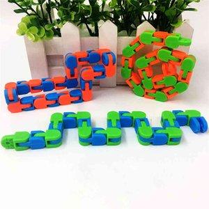 48 Ссылки Wacky Tracks Snake Puzzle Snap Click Sensosy Fidget Toys Тревога Стресс Бесполезная потребность в образовательной партии держит пальцы занятыми G556PQ7