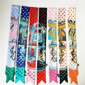 silk scarf fashion double layer silk scarf fashion men and women hairband silk scarf 90*5cm Bandanas 2021 new