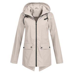 Women's Trench Coats Women Jackets Waterproof Clothing Zipper Hooded Lightweight Raincoat Jacket Thin Outdoor Donsignet