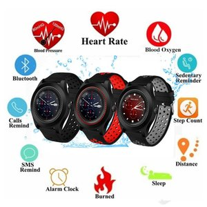 TF8 Smart Watch with Round Screen Camera Sports Strap Fitness Support Memory and SIM Card Bluetooth Phone