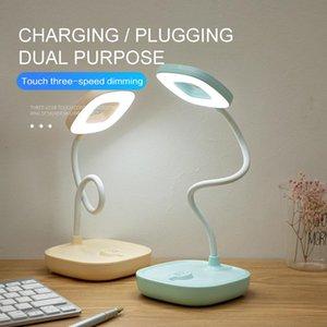 أوضاع يعتم مصباح طاولة LED 5W USB شحن طالب العين دراسة الحماية تعمل باللمس مكتب التحكم في الأماكن المغلقة مصابيح الإضاءة