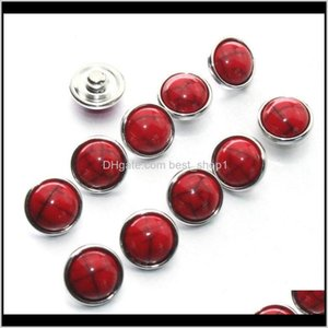 Arts And Crafts Colorful Crack Mixing 12Mm 10Pcs Lot Jewelry Resin Snap Button Pression Bijoux Watches Women Charm Bracelet H Qylcuq S Pzk35