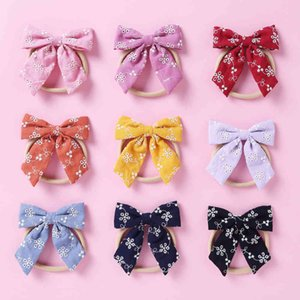 36pc lot Flower 2021 Floral Bow with Clips For born Girl Kids Nylon Headband Haipins Baby Hair Accessories