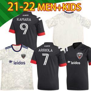 2021 DC Vereinigtes Home Fussball Jersey MLS 20 21 MENS # 9 Kamara Gressel Uniform Washington # 10 Flores Arriola Mans + Kids Kit Fussball Hemden