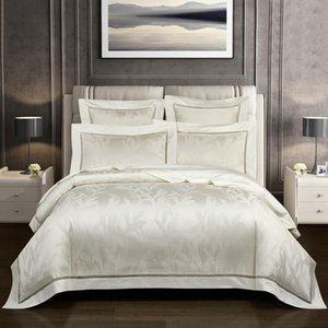 Vintage Jacquard 1000TC Egyptian Cotton Duvet Super King Family size Bedding set Comforter Cover Fitted sheet 4 7Pcs