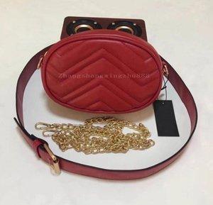 Женщины талии сумки Bumbag Crossbody цепь сумка на плечо красная черная высококачественная дама сундук