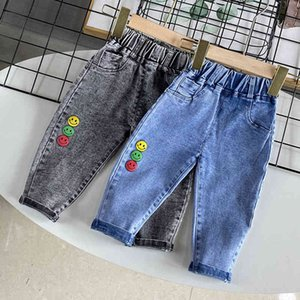 Children's Jeans Boys' Autumn Spring Wear Foreign Style Casual Baby Korean Pants