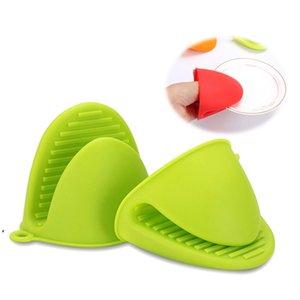 Luva de silicone clipe Bolo Bakeware Resistente ao calor antiderrapante clipes de mão conveniente forno microondas mitt dwe9898