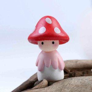 Decorazioni da giardino Mushroom Figurine Cactus Ornamento Miniatura Paesaggio Accessori DHE5937
