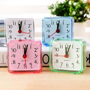 Home Outdoor Portable Cute Mini Cartoon Multi-function Trip Bed Beep Desktop Alarm Clock Mini Portable Table Clocks