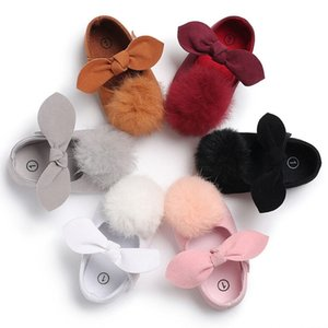 New Hot Toddler Infant Baby Girls Princess Party Bowknot Shoes Cute Crib Shoes Casual Y0407
