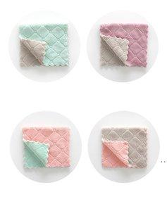 Vente en gros de tissu de nettoyage en microfibre réutilisable Super absorbant Toilette à la maison Aoil and Dust Netty Wipe Rag Kitchena Fournitures HWA4751