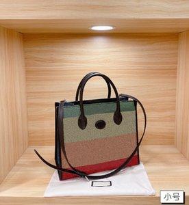 Сумка большой емкости Сумка для укладки радуги дизайнерская буква шаблон Premium Tote сумки высокого качества женской сумки на плечо WF2104221DESigner