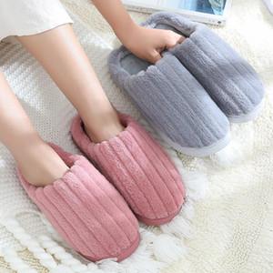 Cotton Slippers Women Winter Home Household Non-Slip Thick Bottom Warm Fur Plus Velvet Cute Indoor Slipper Shose