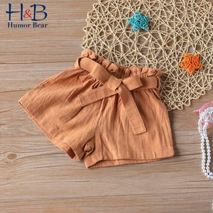 Shorts Humor Bear Kids Summer Solid Color Skirts Ruffles Bowknot Children Fashion Clothes