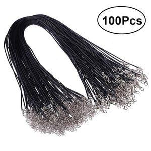 2.0mm Black Waxed Necklace Cord Bulk With Clasp For Jewelry Making Yarn