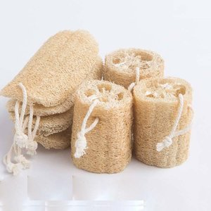 Natural Lufoh Luffa Bath Brushes Suprimentos Proteção Ambiental Produto Esfoliante Esfoliante Esfregar Voltar Toalha Macio Escova de Potenciômetro Lavagem