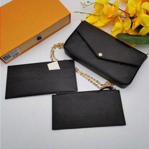 أعلى مع محفظة المرأة حقيبة يد 3PCS مصمم فيليدي بوشيت الفاخرة حقائب جلدية جلدية الكتف الكلاسيكية مربع حمل messenger