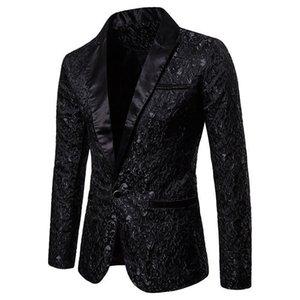 Men's Suits & Blazers Slim Fit Blazer Men Arrival Mens Floral Prom Dress Elegant Wedding and Suit Jacket Men1 KIJL