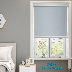 Blinds Blue Blockout Roller Shades For Windows Dustproof Beads Cord Shutters Livingroom Bedroom Kitchen Made To Measure