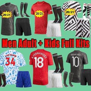 Manchester  United Adam 2020 2021 Utd Futbol Forması Öncesi Maç Eğitim Takım Elchester Van De Beek Cavani Fernandes Maguire Diallo Futbol Gömlek 20 21 Man Kiti
