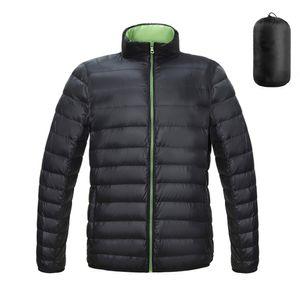 Kissqiqi Mens Упаковывающиеся куртки Облегченные пуховики Зимние Повседневная Открытый Путешествия Спортивные пальто