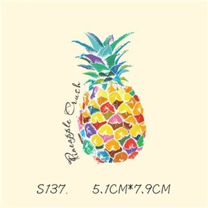DIY Stickers Pineapple Patches Sticker For T shirt Funny Iron-on Transfers Patches Magic Sticker For Clothes