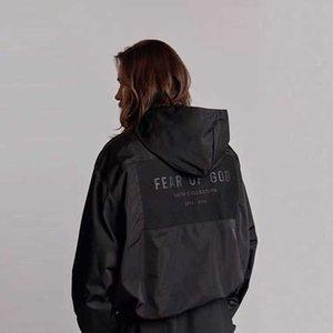 Fog feel of God Season 6 tie cloth high street men's and women's loose jacket hooded assault leather velvet coatPP22