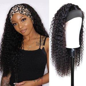 Hair Bulks Short Bob Headband Human For Black Woman Glueless Full Machine Body Wave Brazilian Natural Color