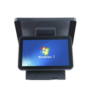 Monitors ComPOSxb Point Of Sale Dual Screen Termianal Capacitive Touch Systems Cash Register With Printer