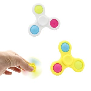 Tiktok Fidget Spinner Toys Push Pop Its anti stress relief Poppers Sensory Bubble fingertip finger decompression silicone Office Workers Fluorescen G473ZYC