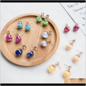 Europe Fashion Jewelry Cute Glass Ball Stars Dangle Womens Elegant S306 Rwmmn Mc2Hr