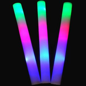 Flash sticks light sticks club lights wholesale custom led colorful light sticks foam sponge light bar fast shipping