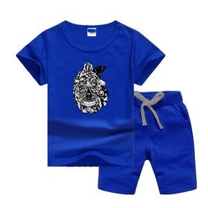 VS Brand Luxury Designer Children Summers Clothing Sets Printing Logo Kids Boy Girl Short Sleeve T-shirts and Pants 2Pcs Suits Fashion Track