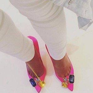 Весна атлас для сексуальных высоких каблуков для зеленых девушек красные женские свадебные туфли