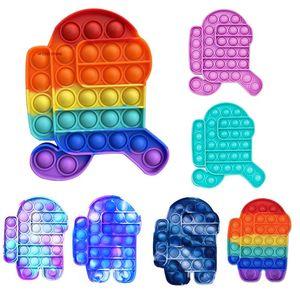 Festa empurrão Bubble Fidget Brinquedos Adultos Relief Toy Antistress Pop Soft Squishy Anti-Stress Presente Anti Stress Box