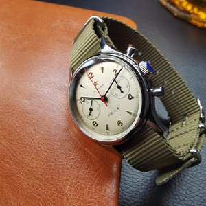 Мужские механические хронографии часы часы Saphull 1963 38 мм сапфировые запястья для мужчин роскошь St1901 Движение военные наручные часы