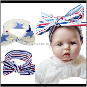 Jewelry Drop Delivery 2021 Baby Bunny Knot Diy Us Independence Day Turban Holiday Celebration Headbands Girls Kids Hairbands Star Hair Access