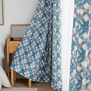 Curtain & Drapes Modern Minimalist Geometric Woven Printed Finished Custom Shading Curtains For Living Dining Room Bedroom