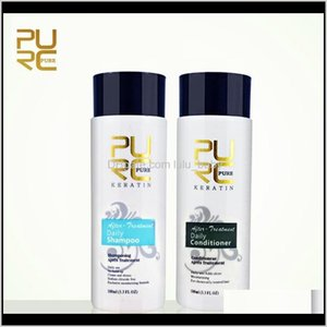 Purc Daily Hair Shampoos And Conditioner For Straightening Smoothing Repair Female Male Hairs Care 2Pcsset 200Ml Ft9Ch Shampooconditio Hji4L