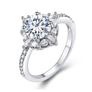 Big Stone Ring Fashion Wedding Rings Jewelry with Shining Crystal CZ Diamond Rings Gift 3538 Q2