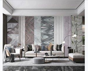 Custom Marble Pattern Wall Murals Printed Mural 3D Wallpaper For Living Room Bedroom Home Decor Art Printing
