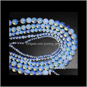 4 6 8 10 12 14Mm Opal Loose Semiprecious Natural Gemstones Diy Bracelet Necklace Jewelry Accessories 5Pod5 Stone M9Mnl