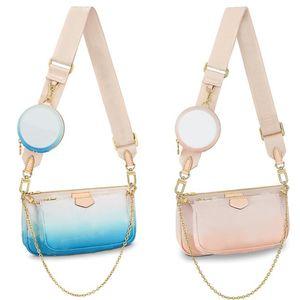 Haut de la qualité Multi Pochette Accessoires Couleur de gradient Bandbody Sac Dames Sacs à bandoulière Chaîne Sacs Mode Womens Sac à main