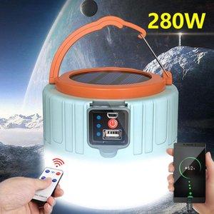 Портативные фонарики Светодиодная солнечная лампа для кемпинга легкий прожектор аварийный палатка лампа дистанционного управления телефон заряд на открытом воздухе для пешеходных рыбной ловли