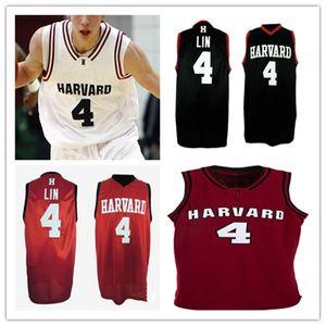 Custom Basketball Harvard Chrosson Colors Collens Jersey Jersey Ajogbor Ciaran Braiboy Jeremy Lin Kale Ratings Danilo Djuricic Reed Farley Mason Forbes 4XL