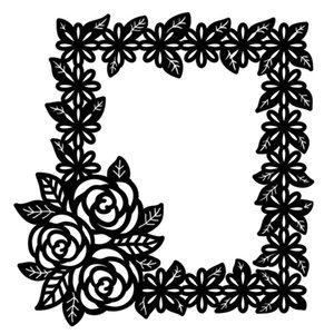 Painting Supplies Kokorosa Rose Flower Lace Frame Metal Cutting Dies Stencils DIY Scrapbook Decor Embossing Craft Die Template