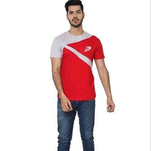 T-Shirt Sommer Patchwork Männer hergestellt von Delight Apparel