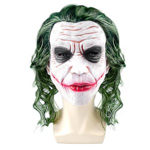 Horror Joker Head Head Head Masque Latex Headgear Halloween Masque Live Movie Theme Theme Party Carnaval Cosplay accessoires