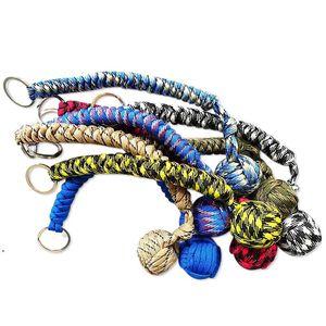 Веревка плетеная цепь на открытом воздухе Оружие самообороны Бусины Круглая самооборона для женщин HHD5922